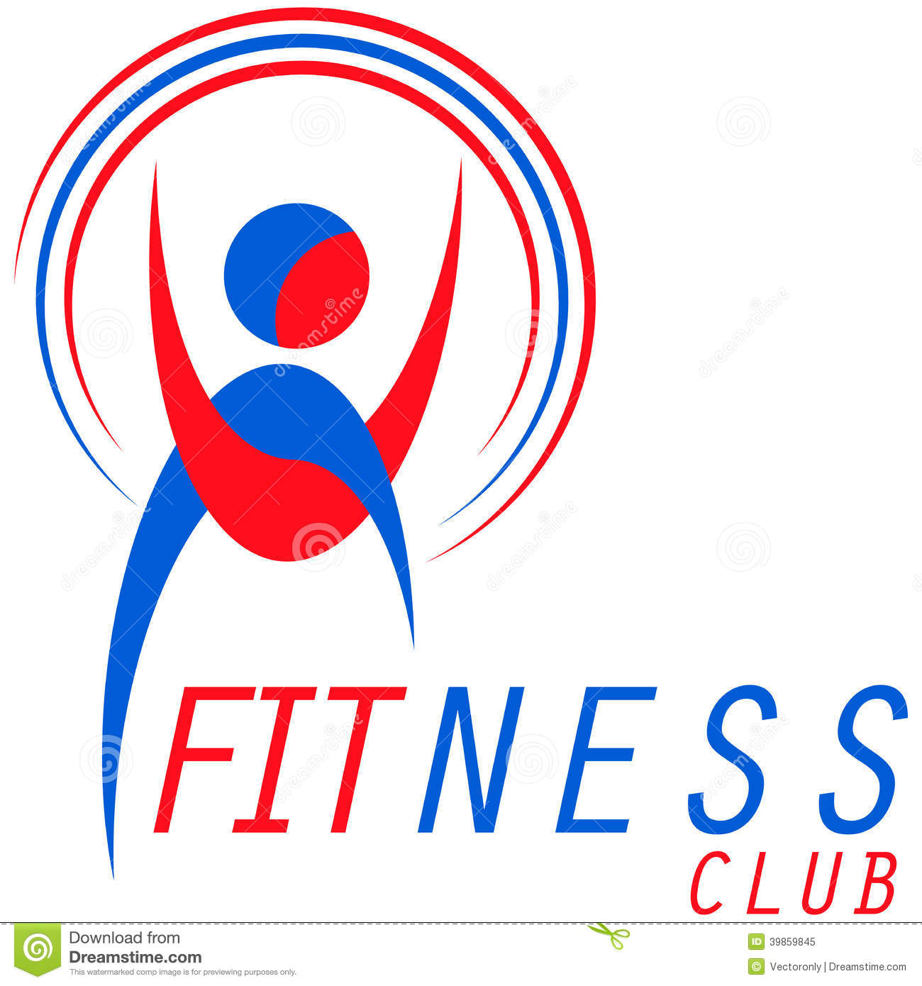 Fitness logo stock vector. Illustration of idea, sports - 39859845 for Fitness Logo Vector Free Download  104xkb
