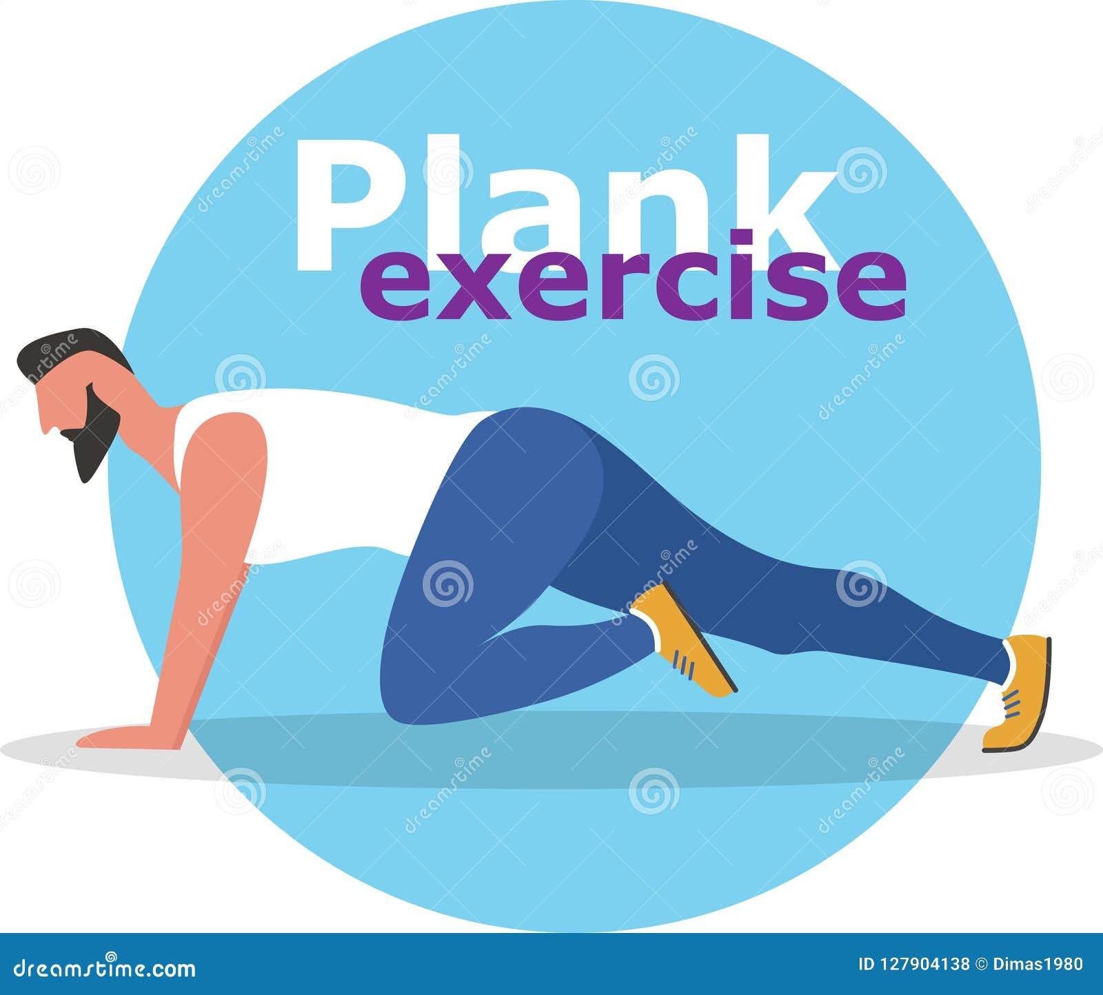 Fitness Man Doing Planking Exercise Stock Vector Illustration Of Sport Challenge 127904138