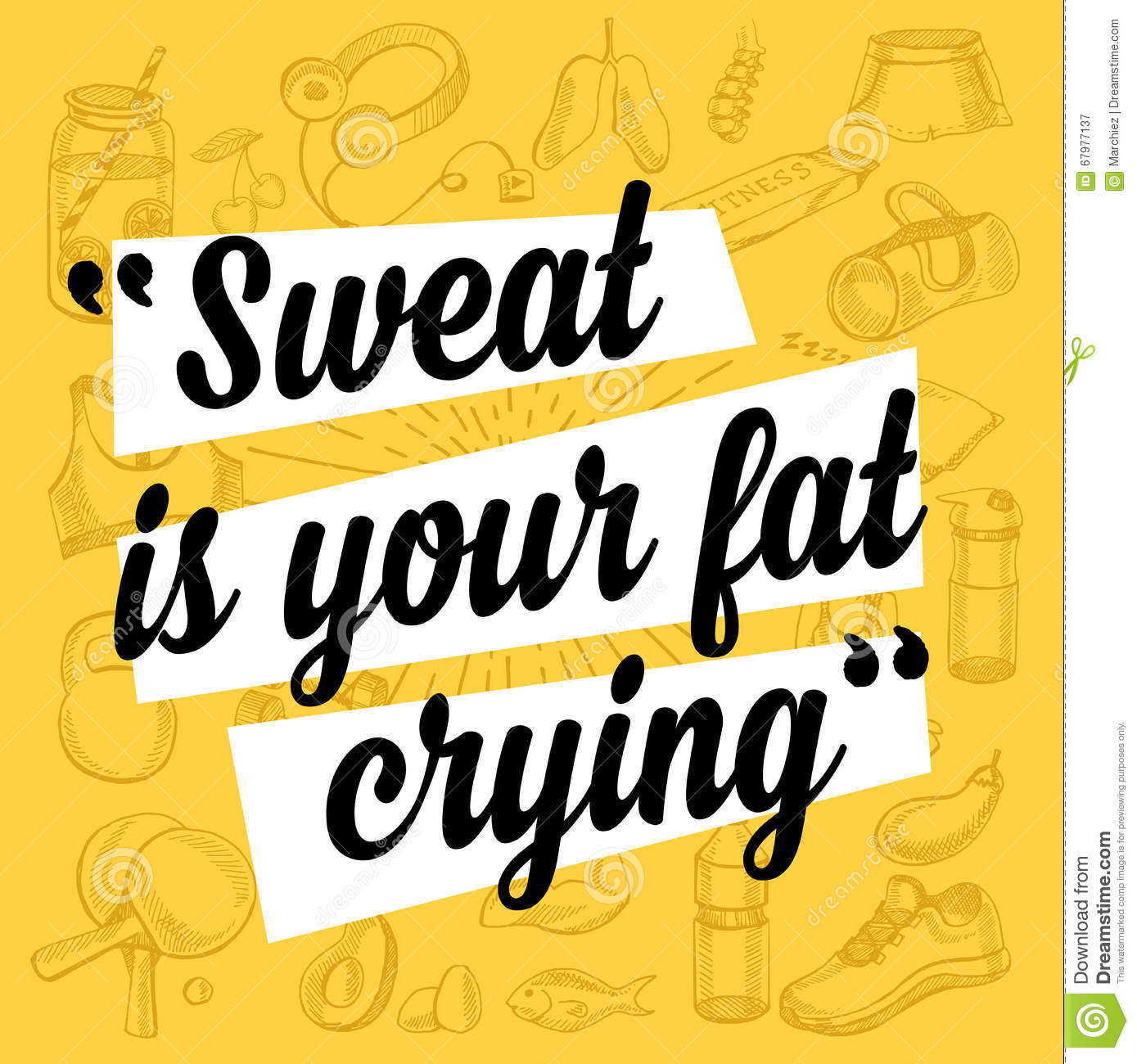 Fitness motivation quote poster stock vector image