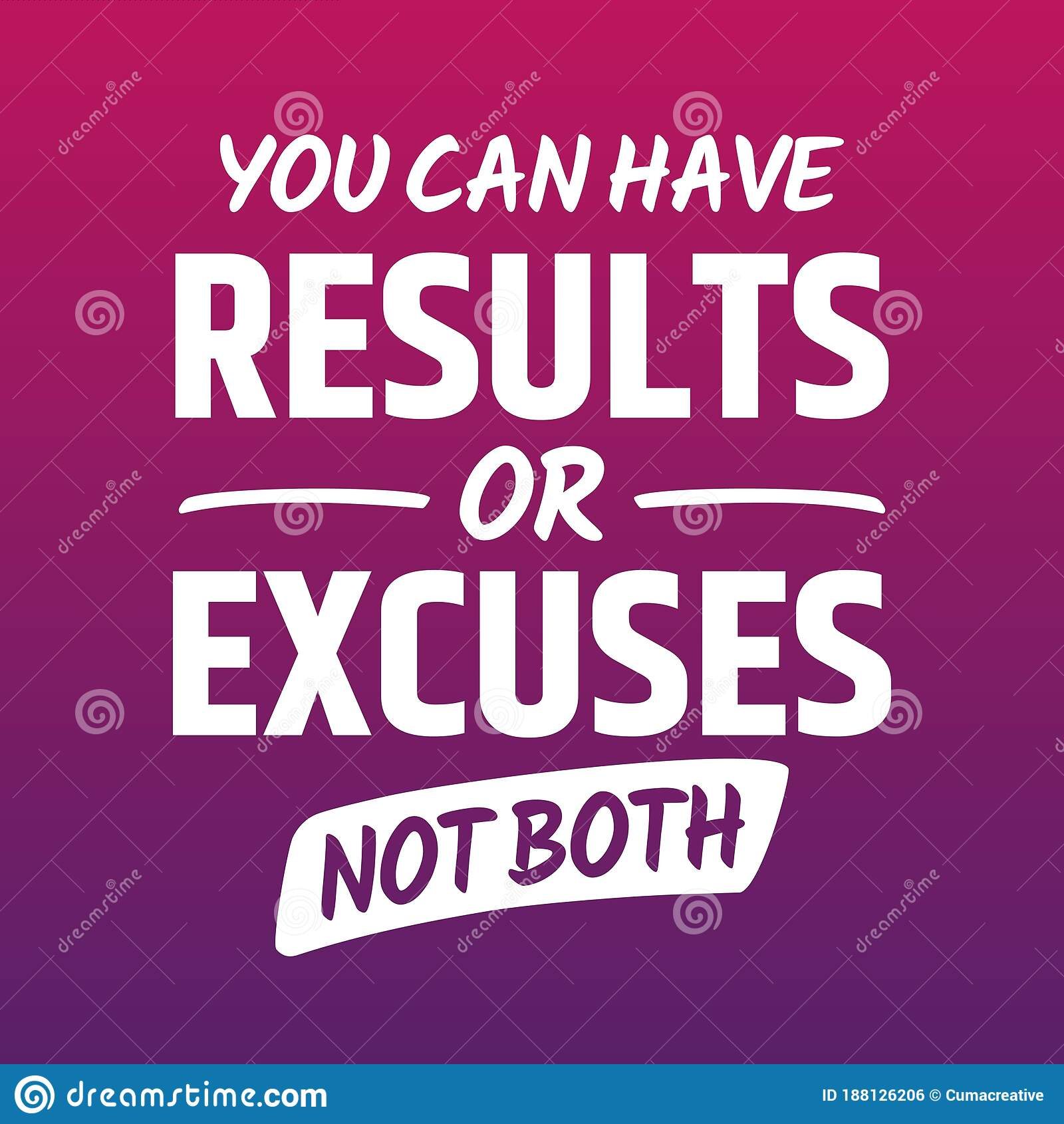 Fitness Motivational Quotes For Athletes You Can Have Results Or Excuses Not Both Stock Vector Illustration Of Poster Healthy 188126206