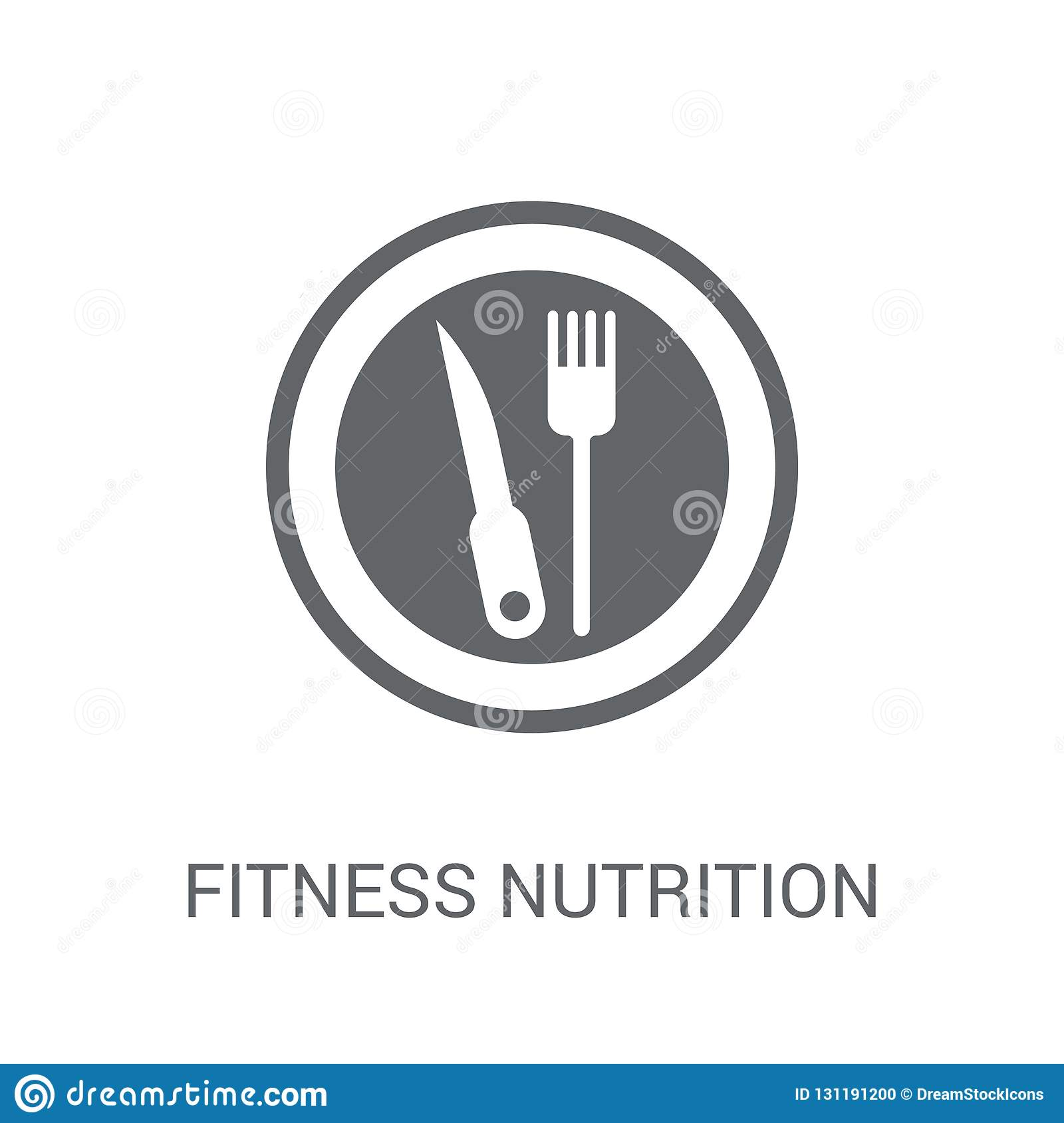 Fitness Nutrition icon. Trendy Fitness Nutrition logo concept on