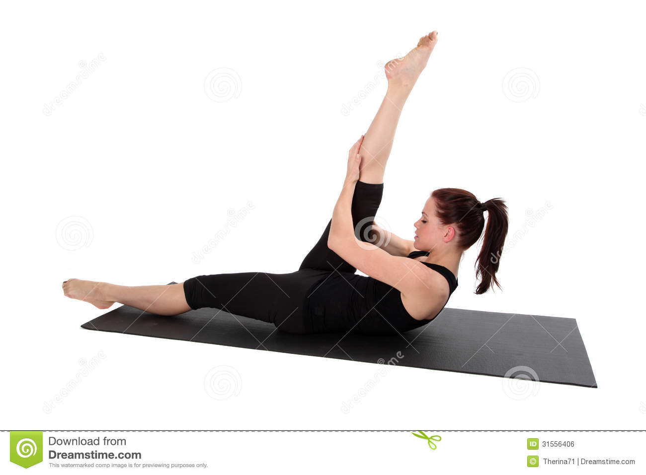 Fitness pilates royalty free stock image image 31556406 for Lady fitness