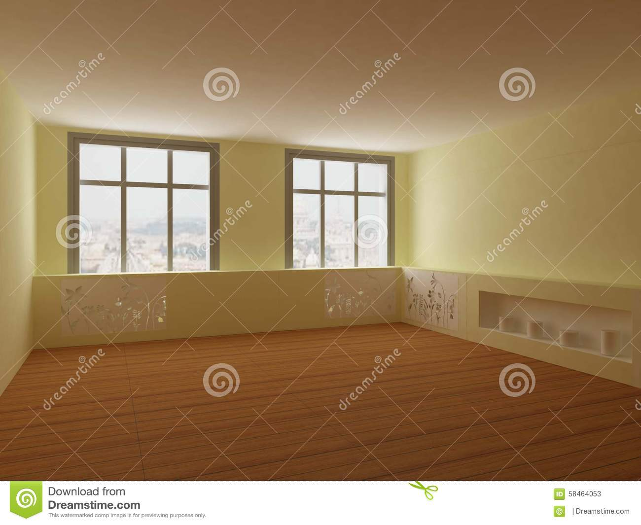 Fitness room stock illustration image