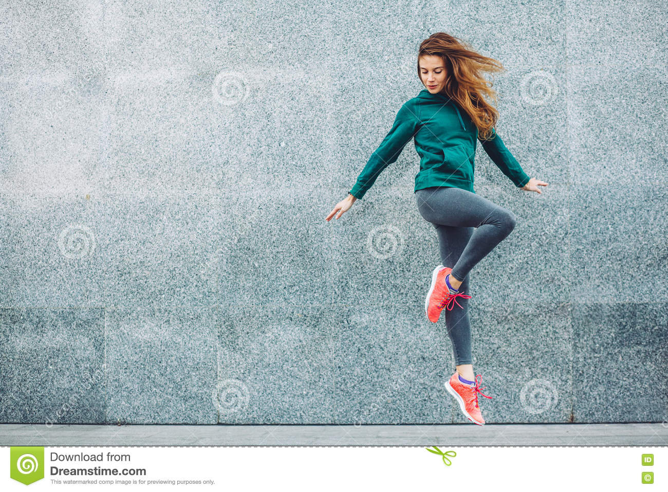 Download Fitness Sport Girl In The Street Stock Image - Image of break, hiphop: 80693027