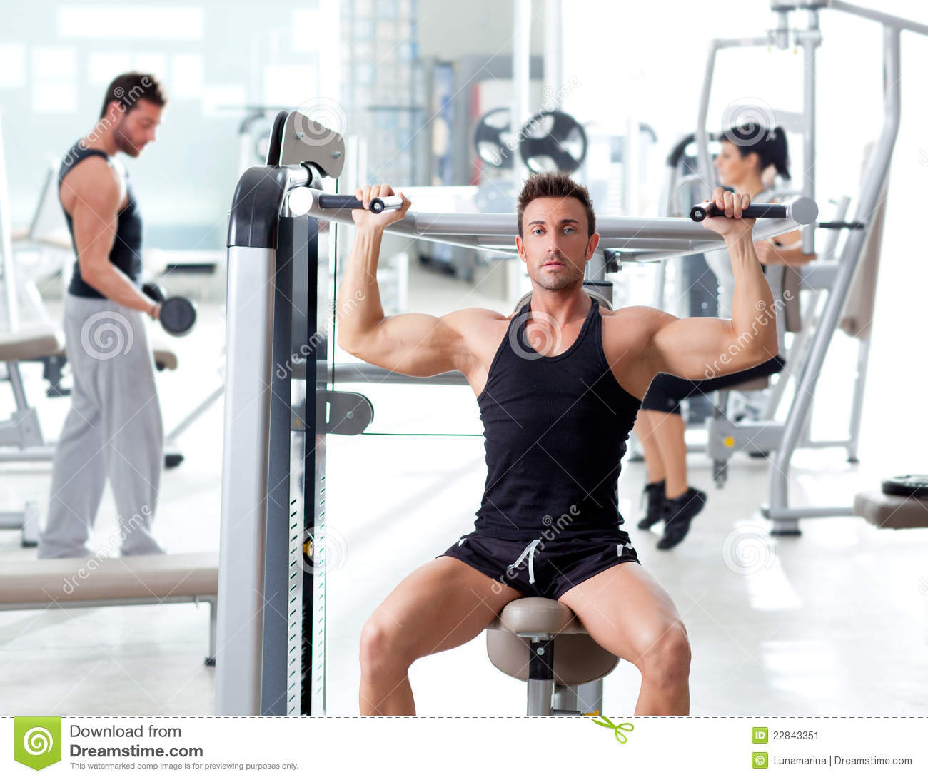 Fitness sport gym group of people training stock image for Gimnasio sport gym