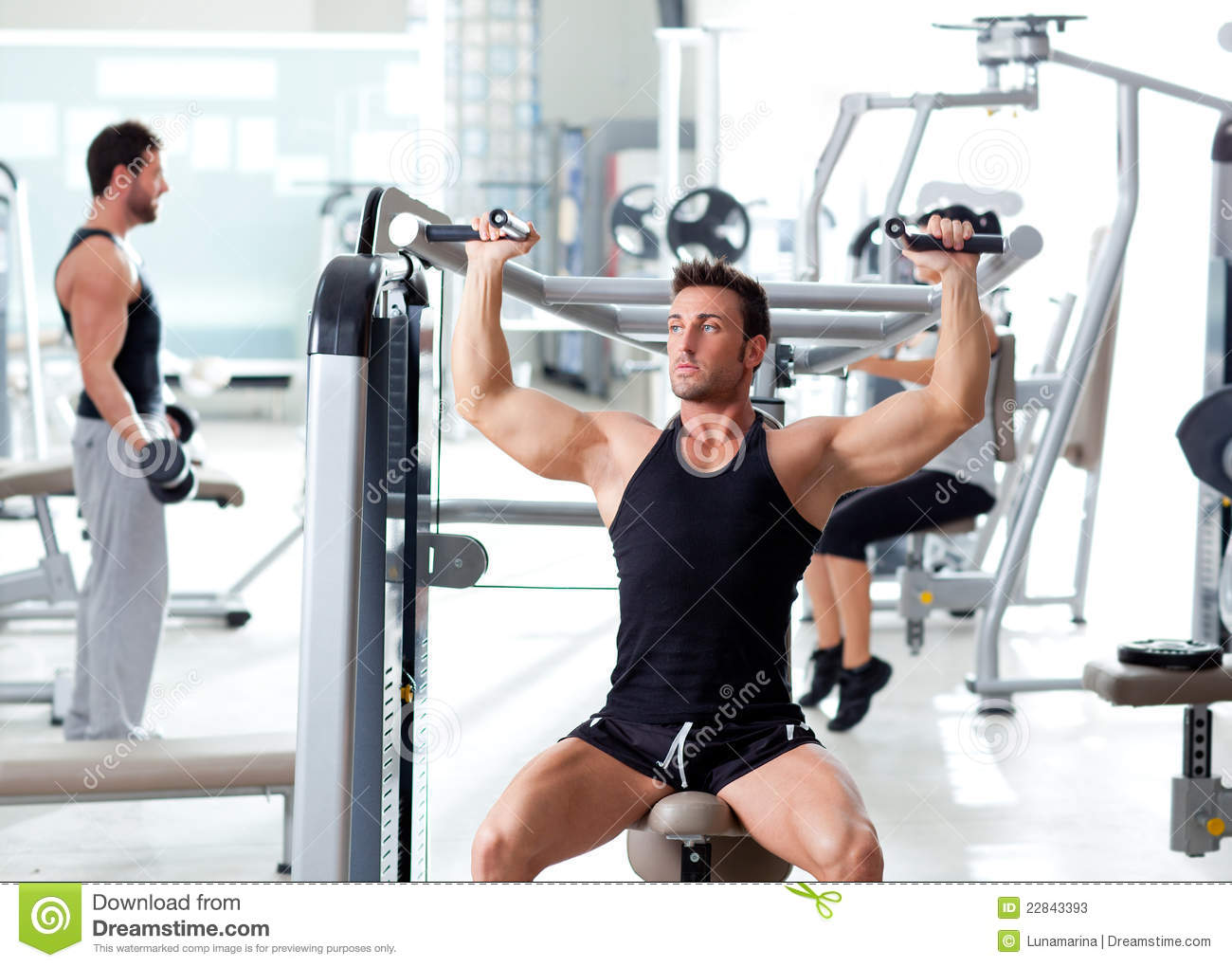 Fitness sport gym group of people training stock photos