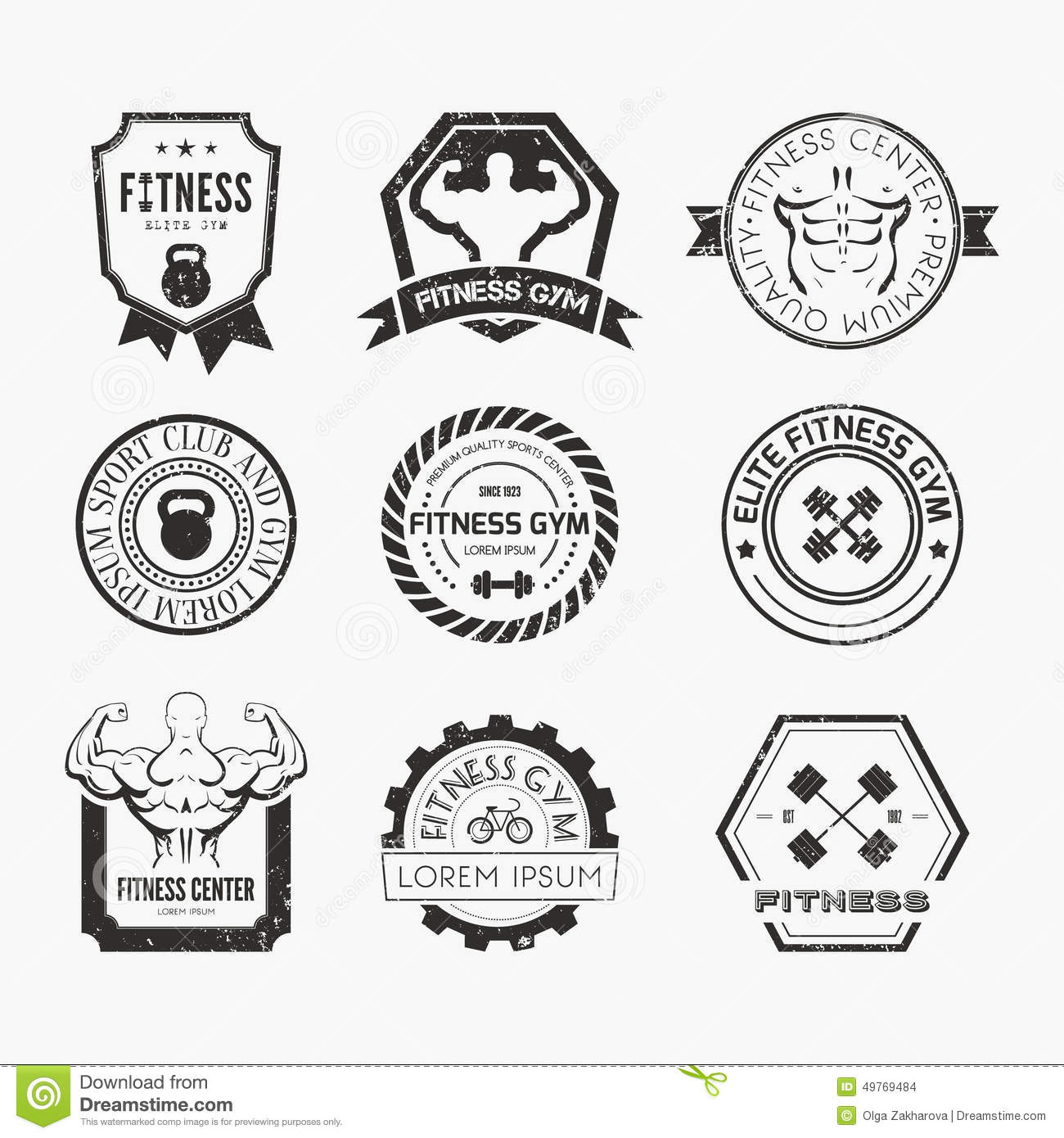 Fitness And Sport Gym Logos Stock Vector - Image: 49769484