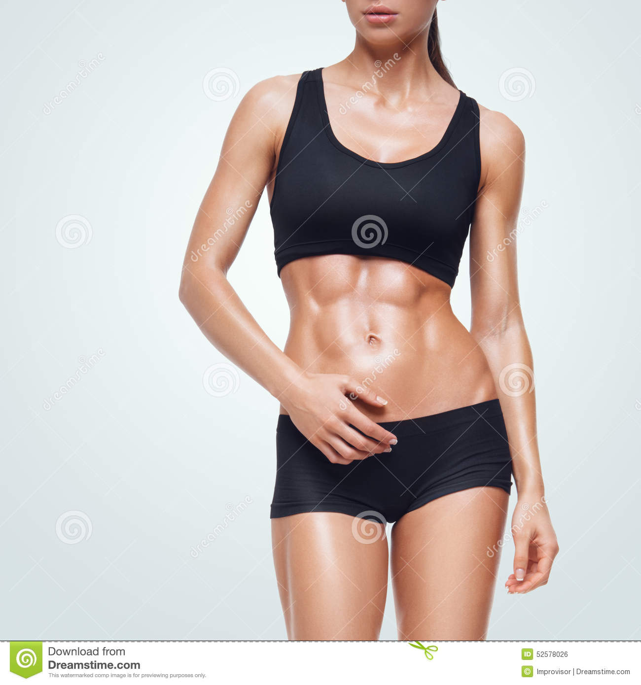 Fitness sporty woman walking on white background