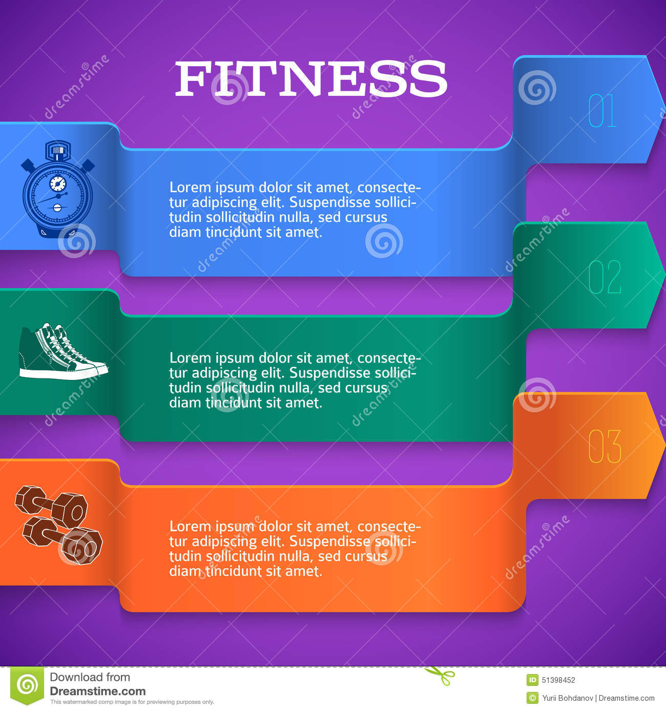 Fitness-template-brochure-page-purple-background Stock Vector - Image ...
