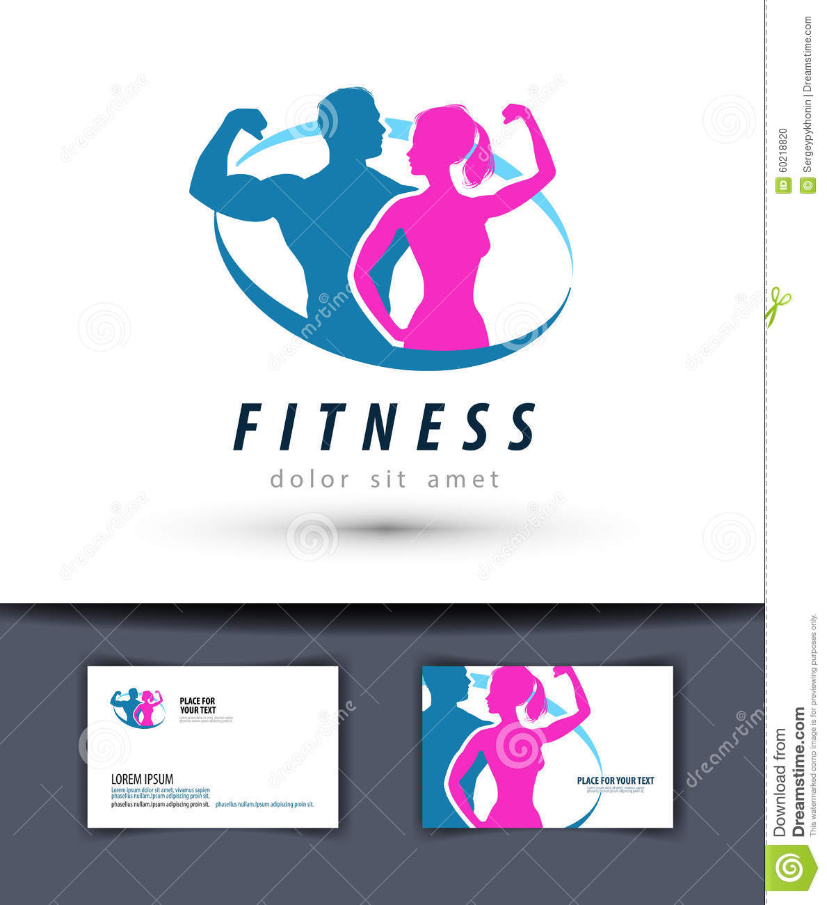 Fitness vector logo design template gym or sport stock for Gym layout design software free