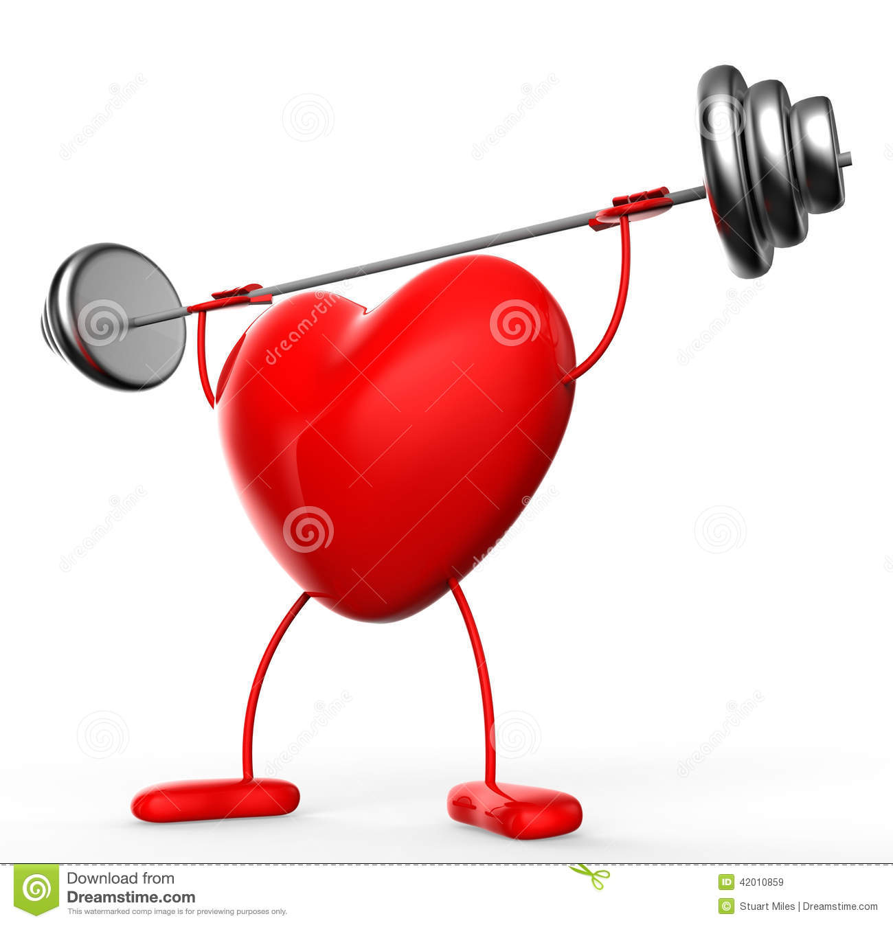Fitness Weights Means Valentine Day And Athletic Stock ...