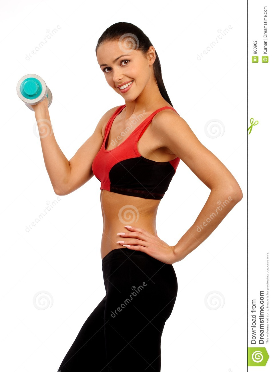 Beautiful young fitness woman. Workout women series.