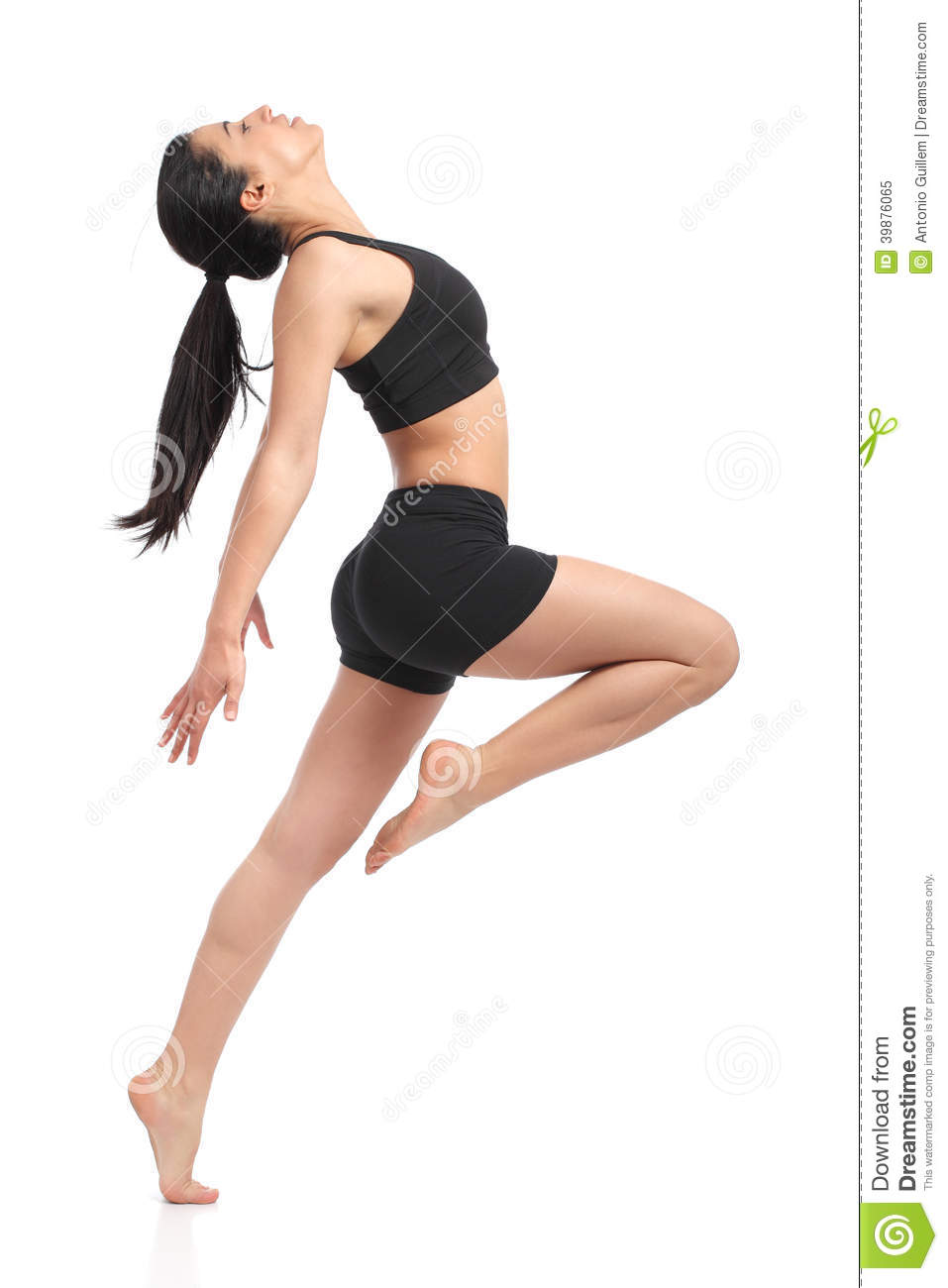 Fitness woman dancing doing aerobic exercises