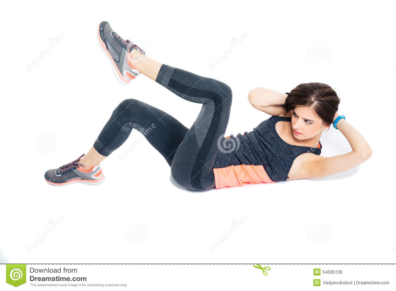 Squat Exercises Without Weights Fitness Stock Photo