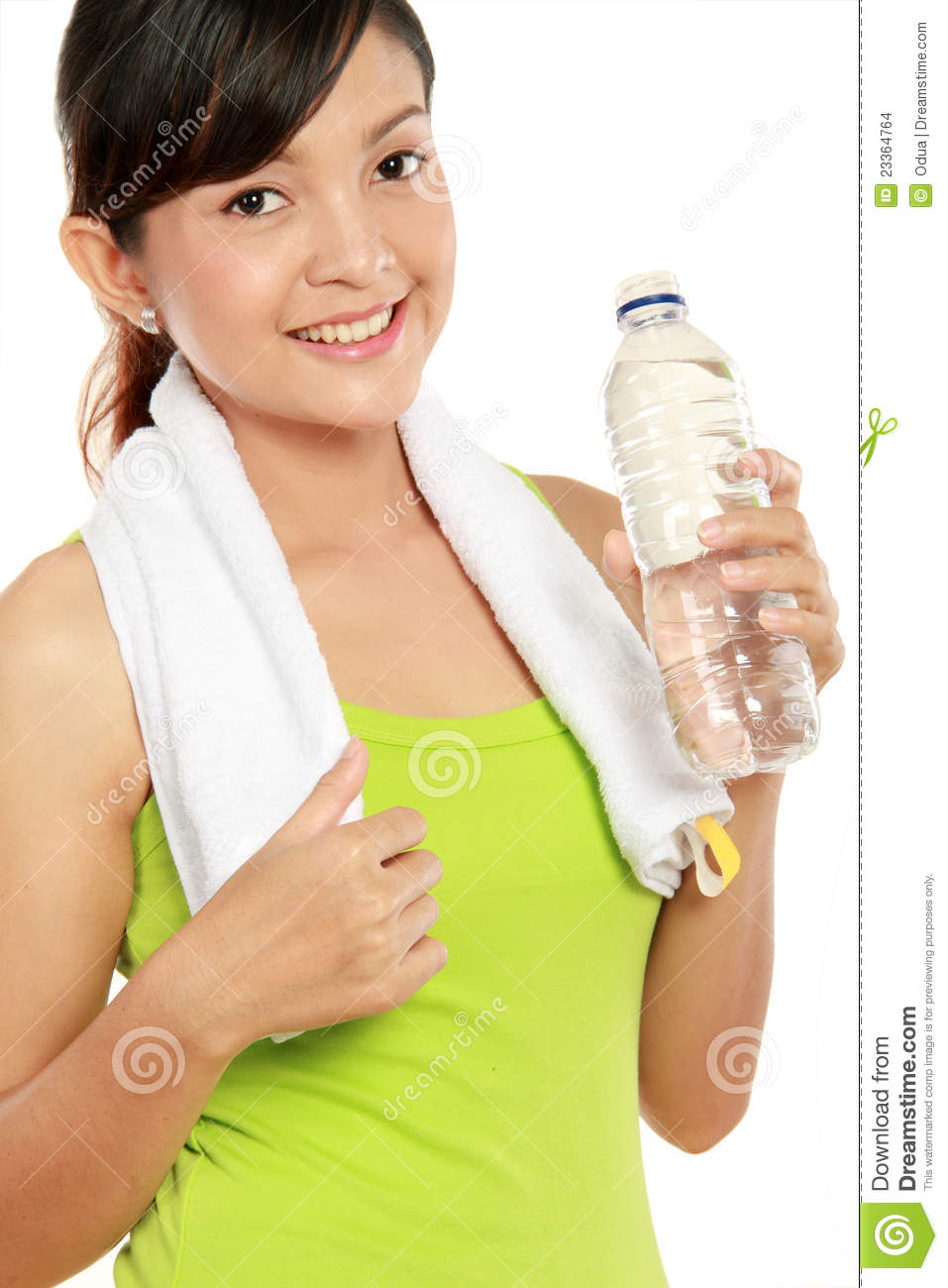 Fitness Woman Drinking Water Stock Images - Image: 23364764
