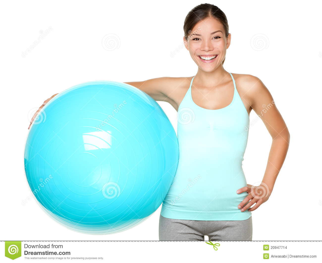 Fitness Woman Holding Pilates Ball Stock Images - Image: 20947714