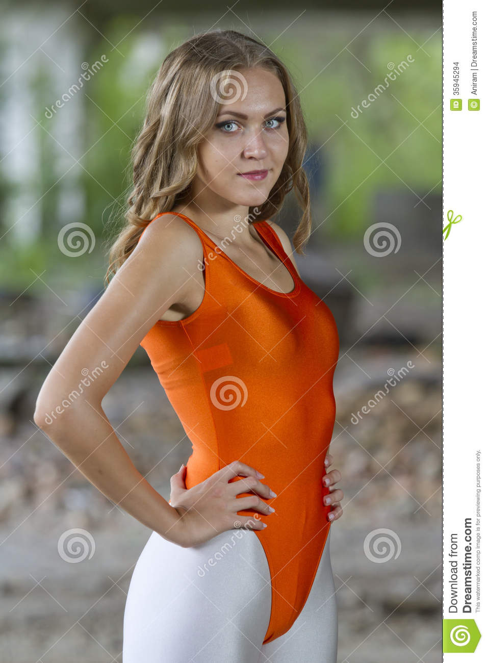 Fitness Woman In Leotard Stock Images - Image: 35945294