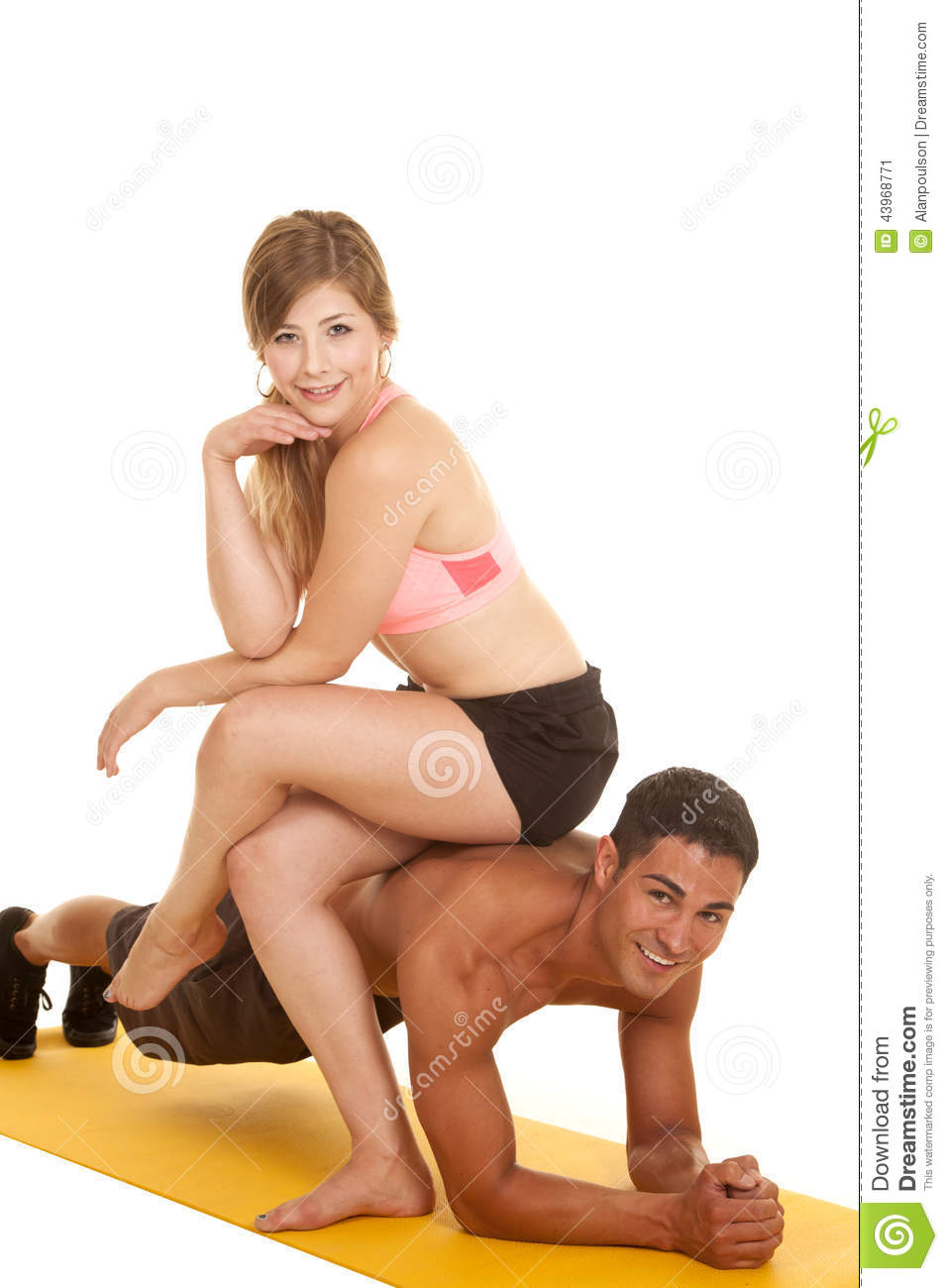 Woman sitting on mans face