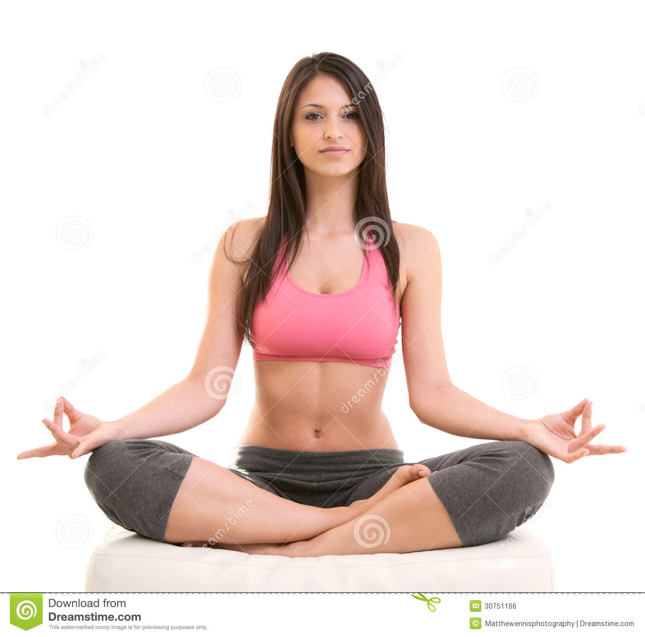 Fitness Woman Sitting In Yoga Posture Royalty Free Stock Image - Image ...