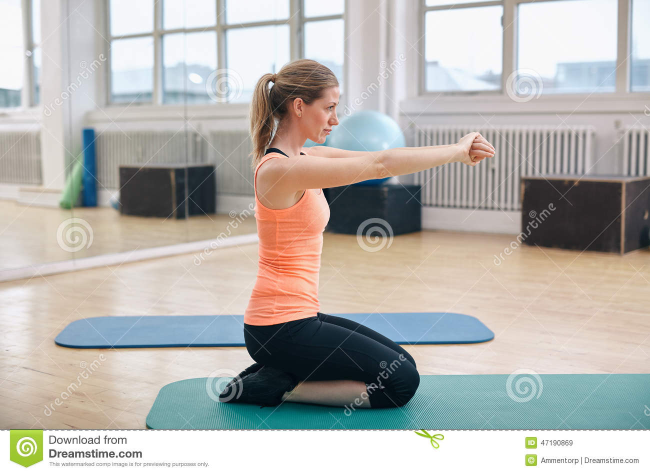 Fitness Woman Working Out In Gym Stock Photo Image 47190869