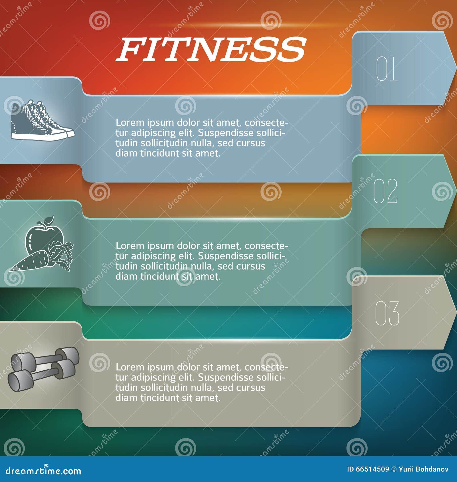 Fitnesssbackgrouptemplatepagenewsletter Stock Illustration - Training newsletter template