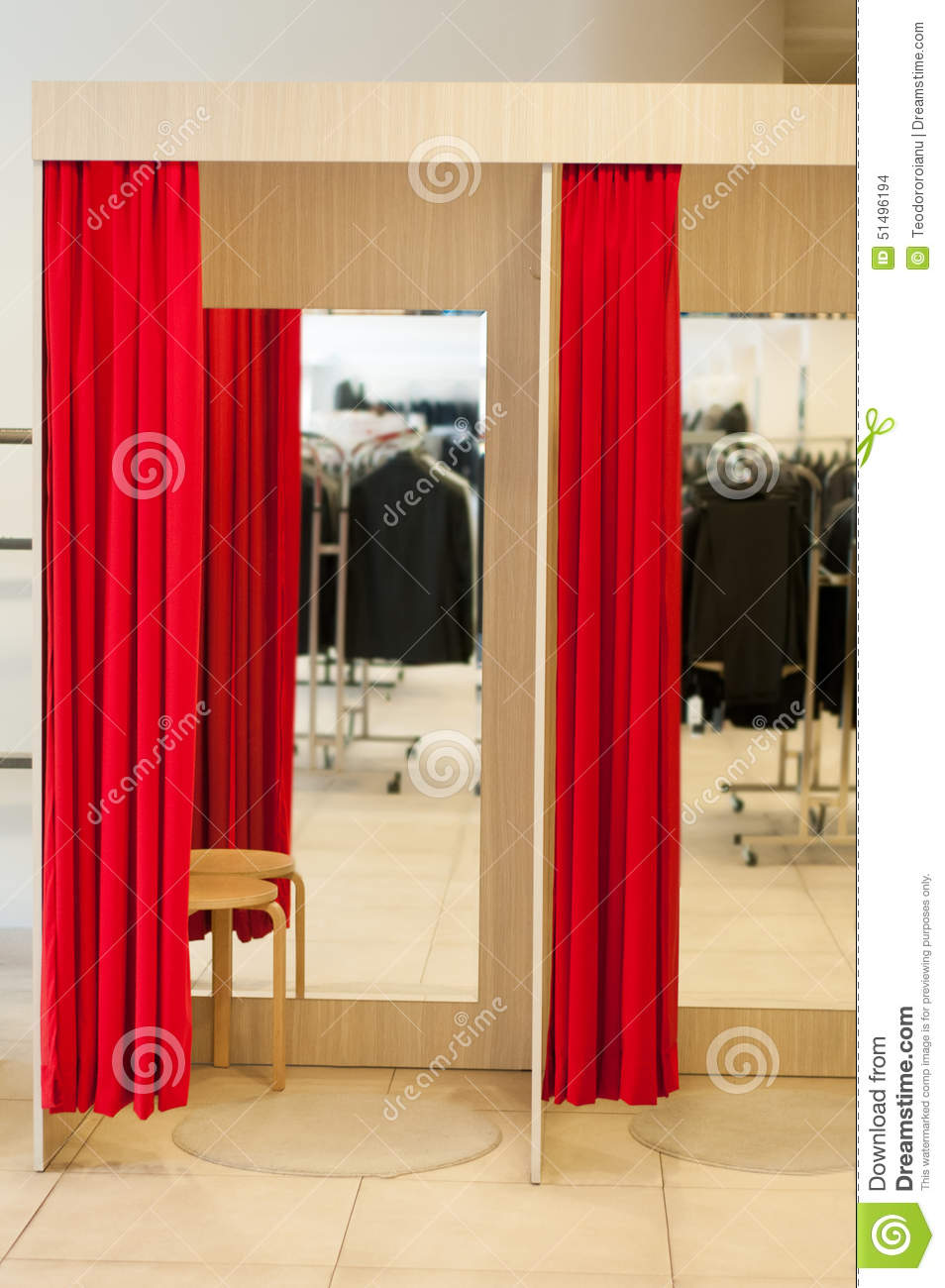 Fitting Room Stock Photo Image Of Material Background