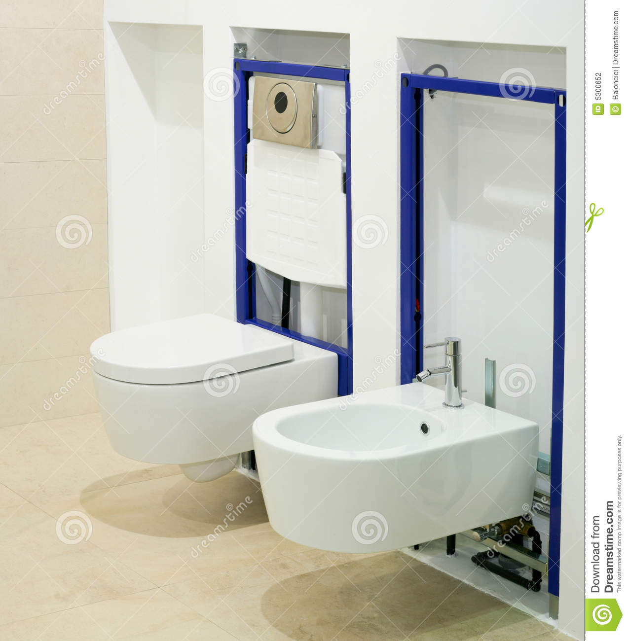 Construction Toilet Bowl : Fitting toilet stock photography image