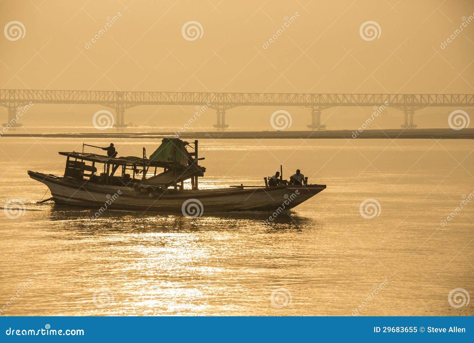 Fiume di Irrawaddy - Myanmar