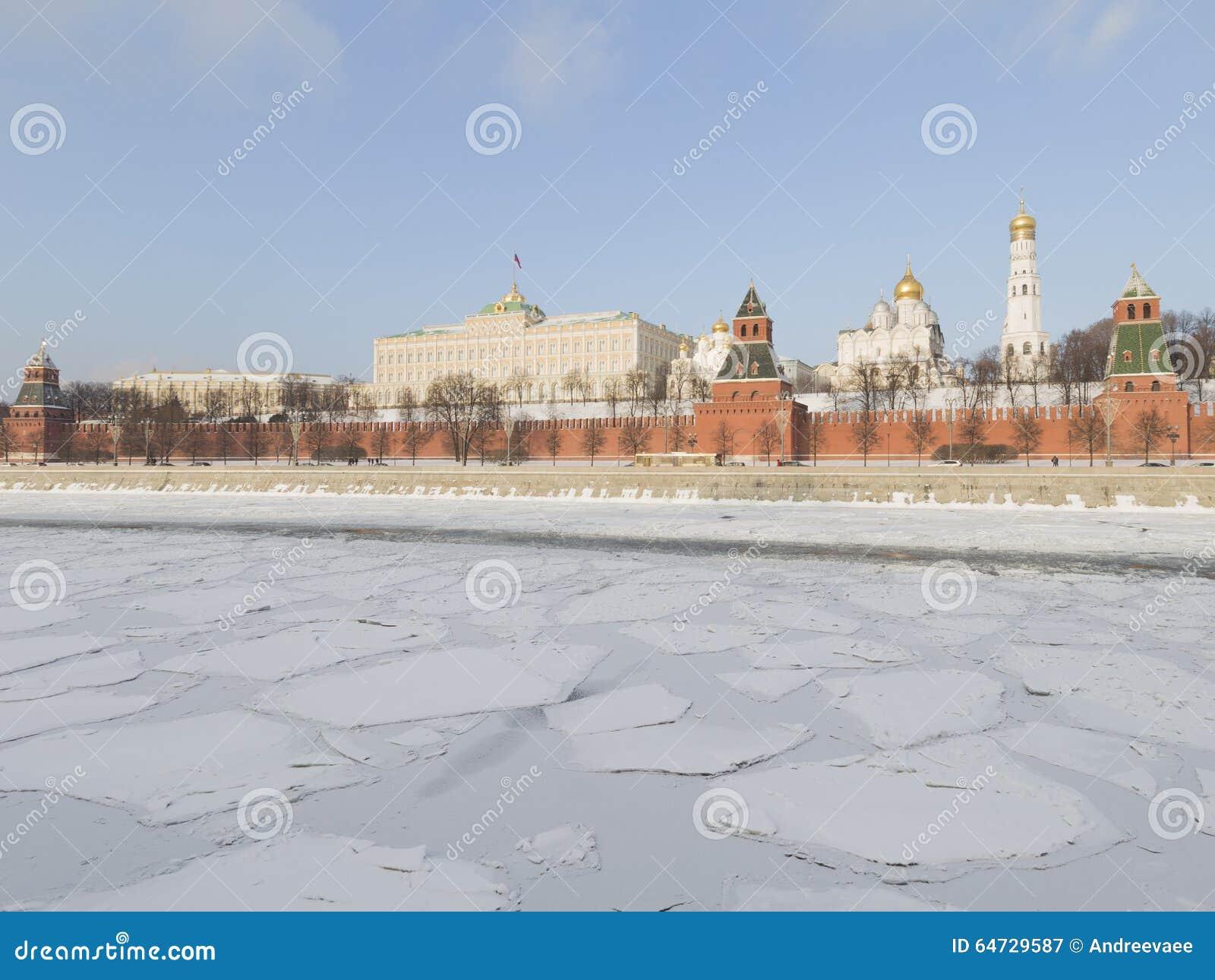 Fiume di Mosca nell inverno