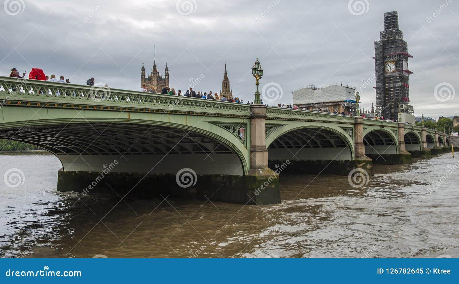 Fiume Di Tamigi Londra Immagine Stock Immagine Di Londra 126782645