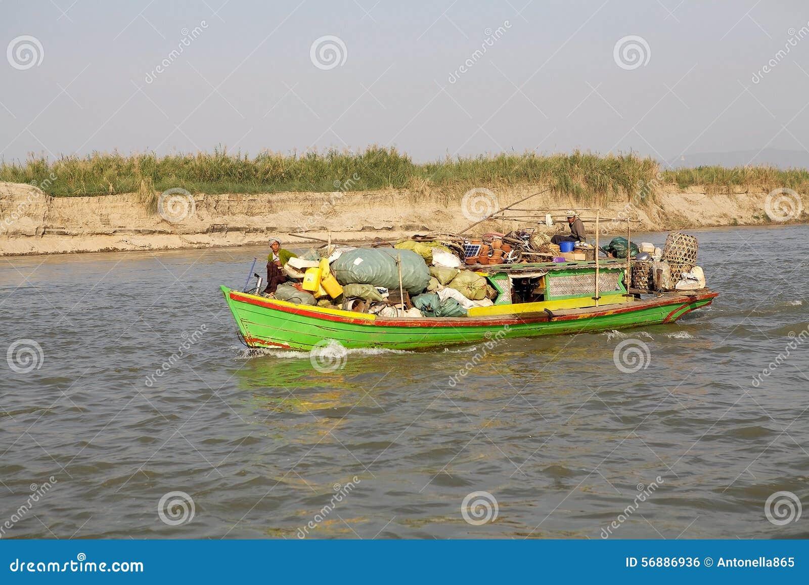 Fiume Myanmar di Irrawaddy