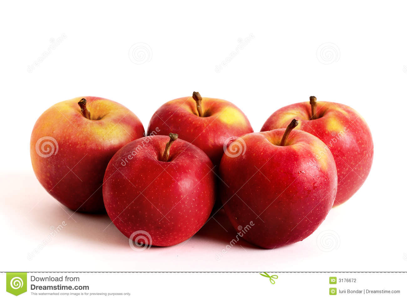 how tall is five apples
