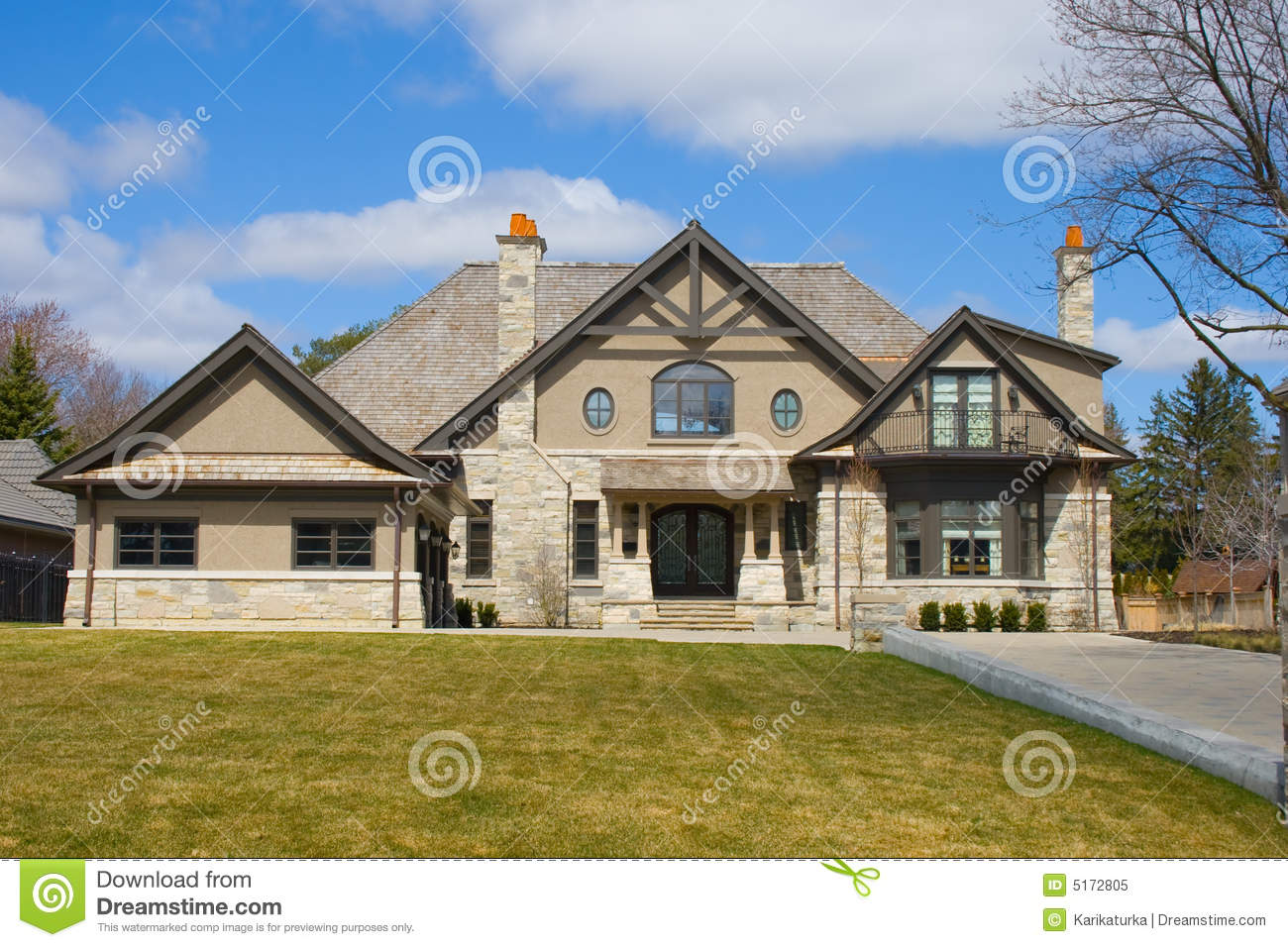 Five Bedroom House Royalty Free Stock Image