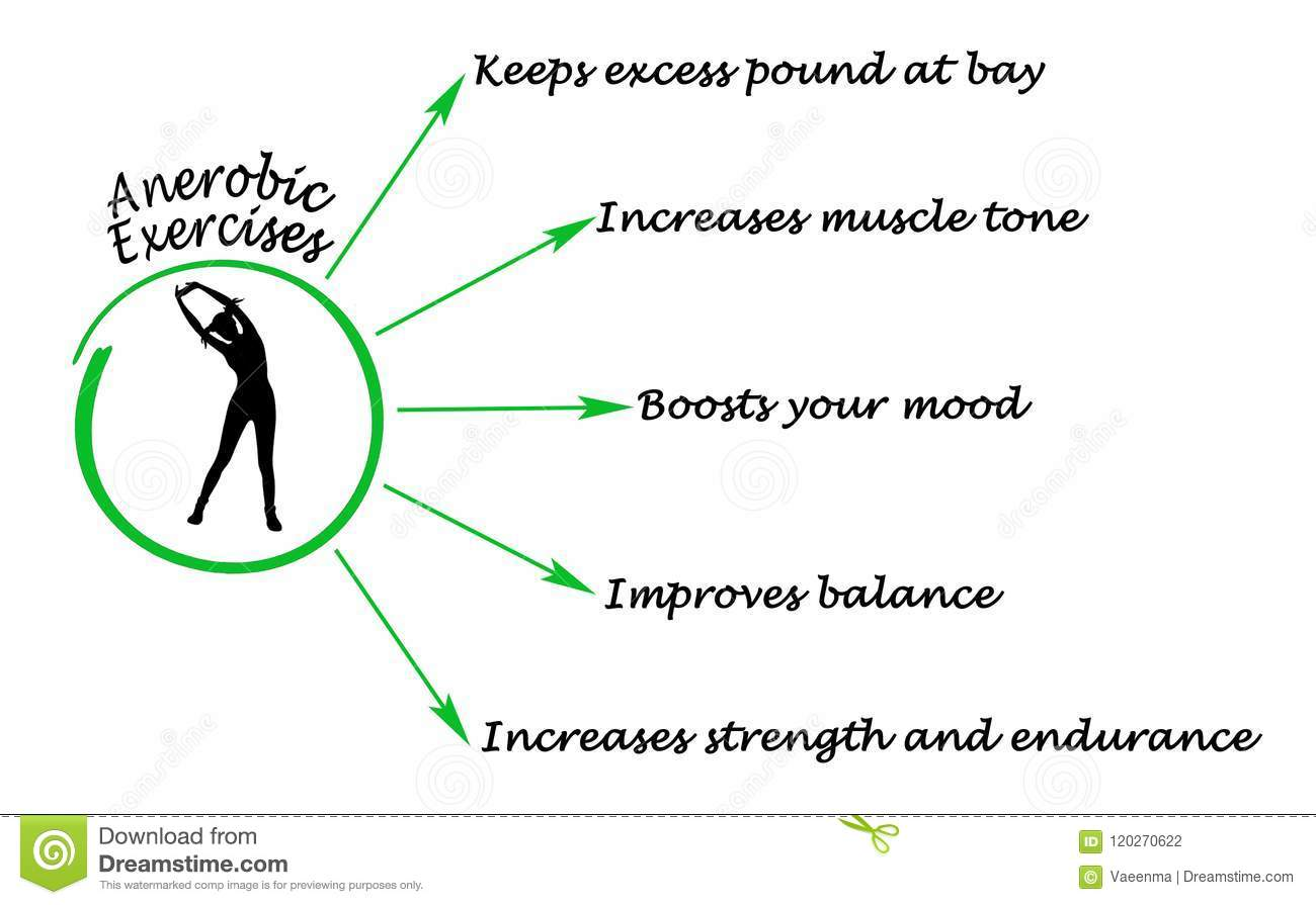 Benefits Of Anaerobic Exercise Stock Illustration - Illustration of