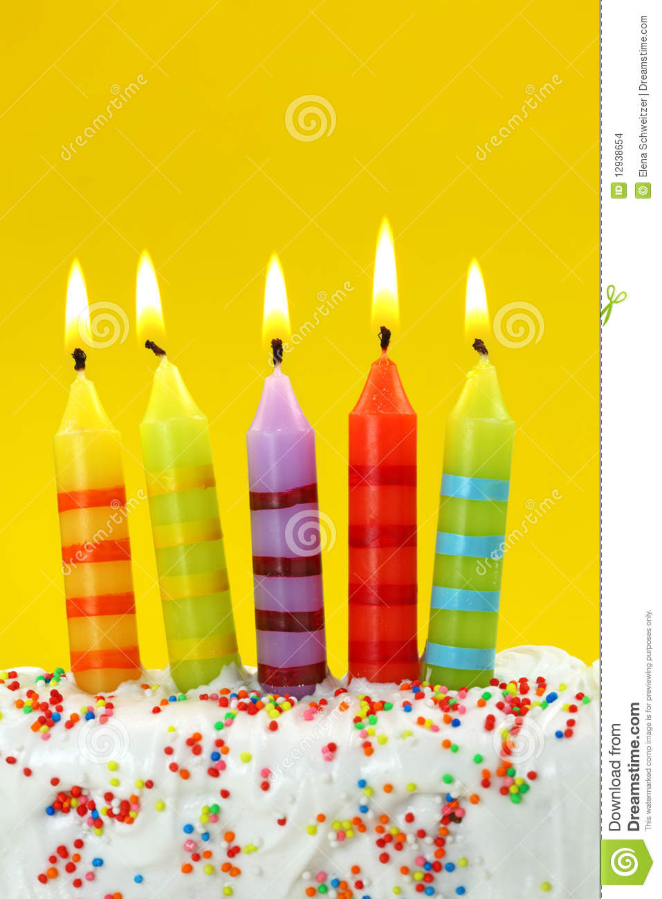Five Birthday Candles Stock Images Image 12938654