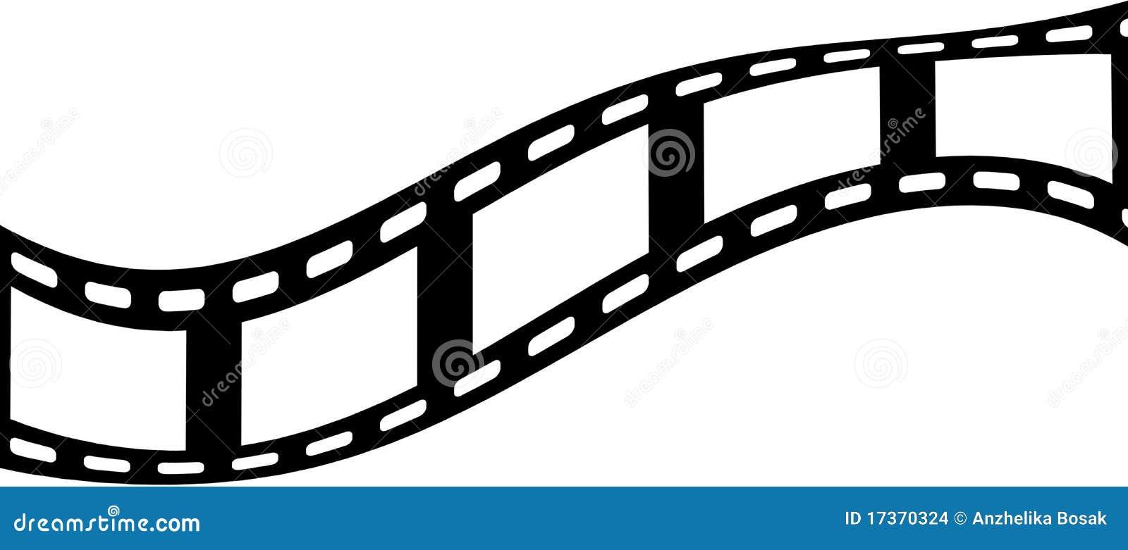 Five blank film frames