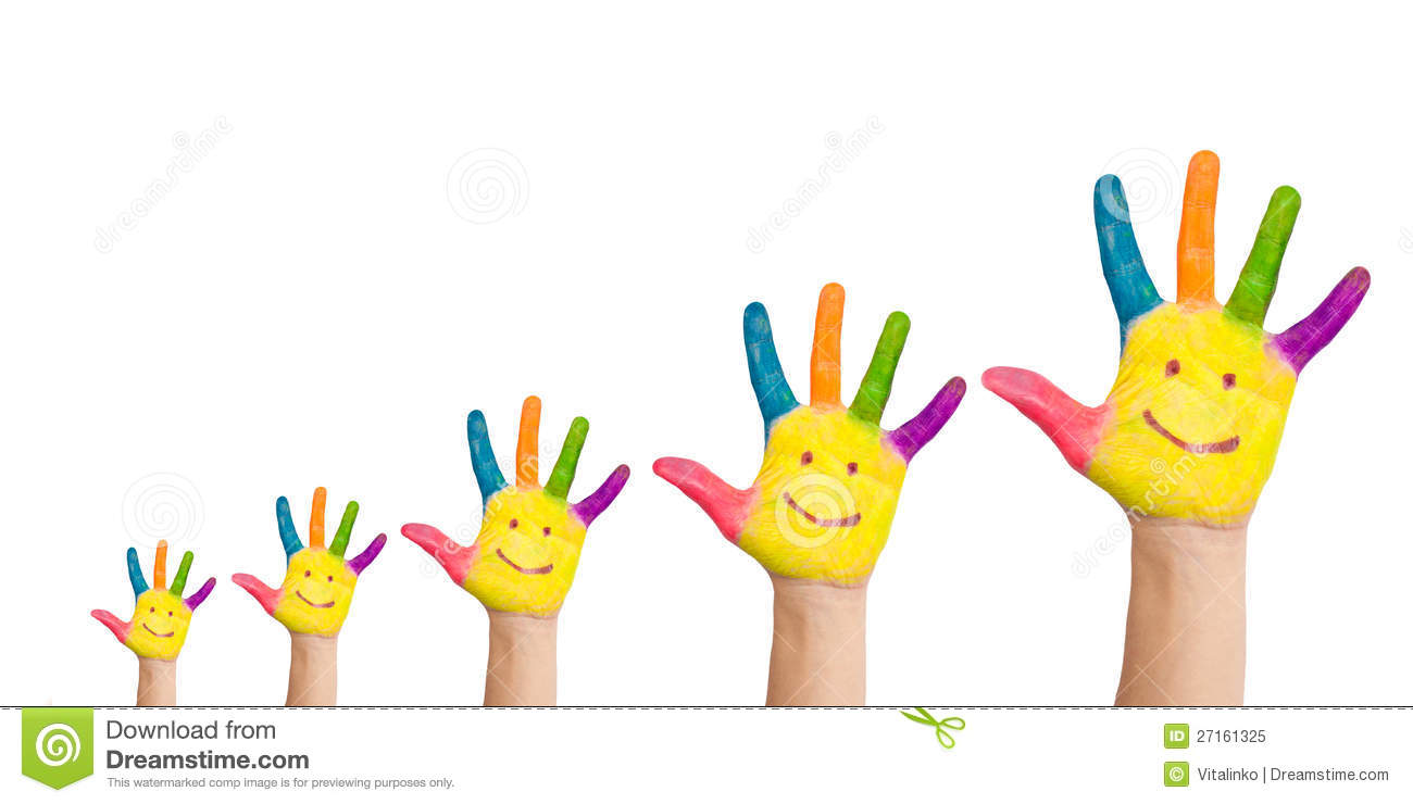 five colorful hands with smile royalty free stock photo big family clipart images big family clipart images