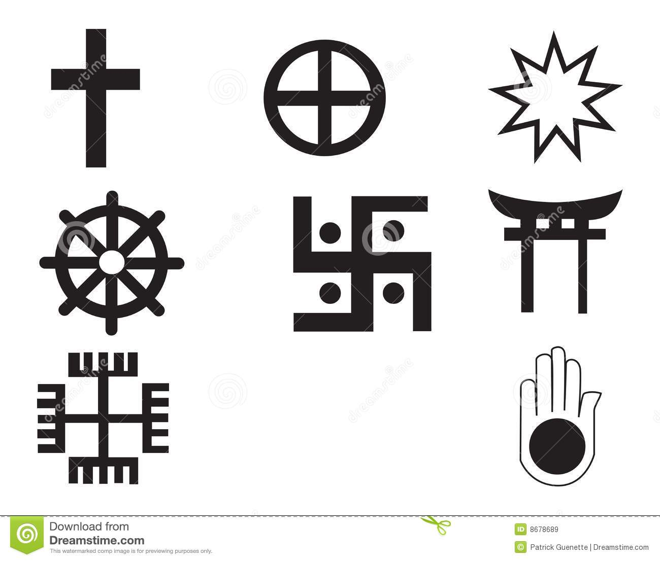 Five Different Native American And African Symbol Stock Illustration