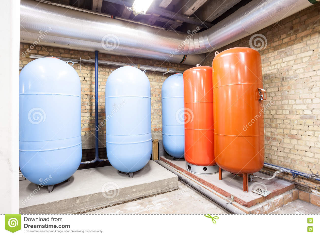 Five expansion boilers