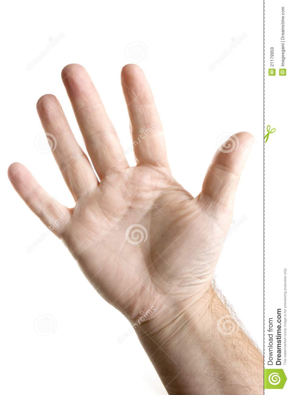 images of five fingers