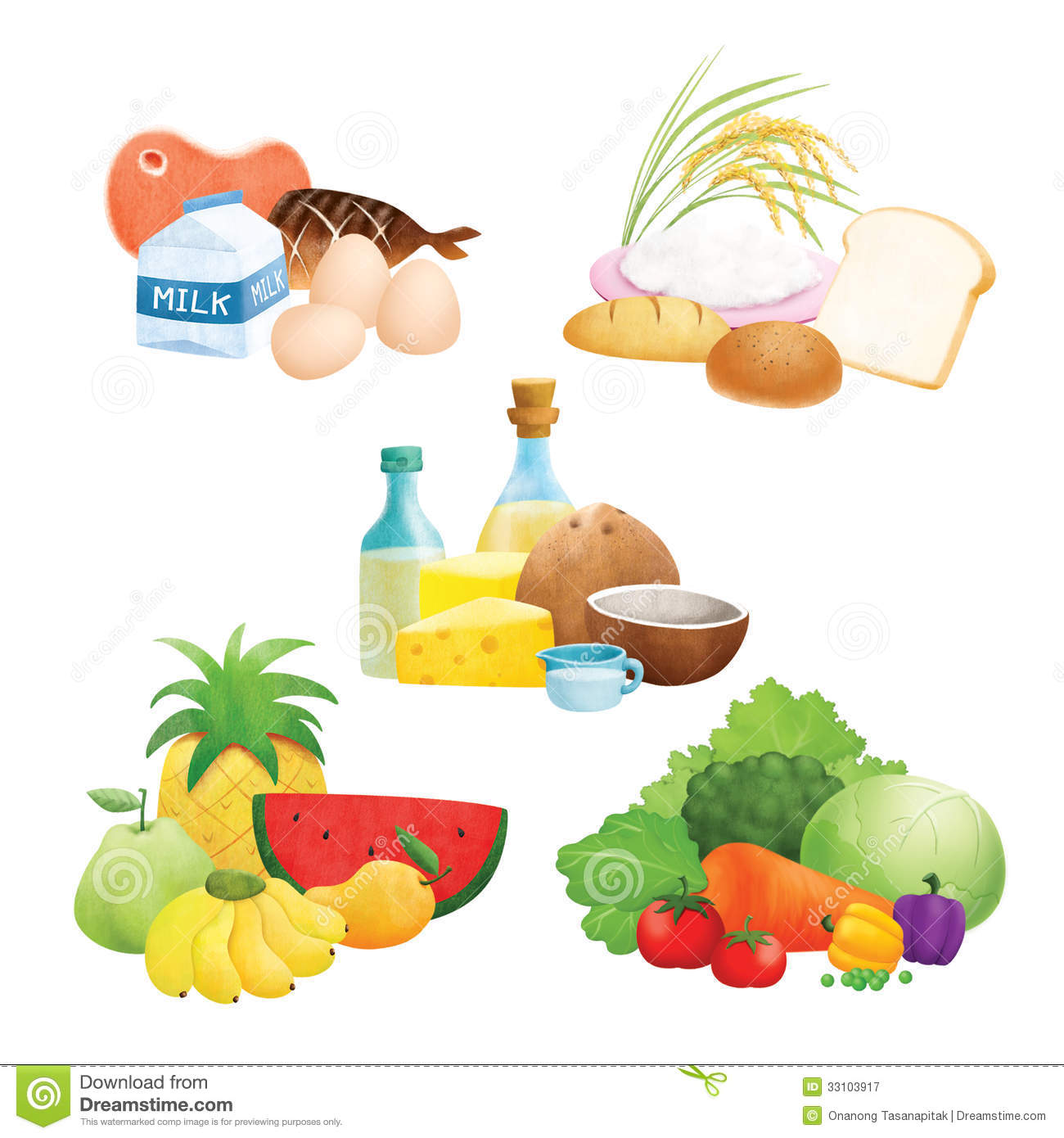 Five Food Group Illustrations Royalty Free Stock ...