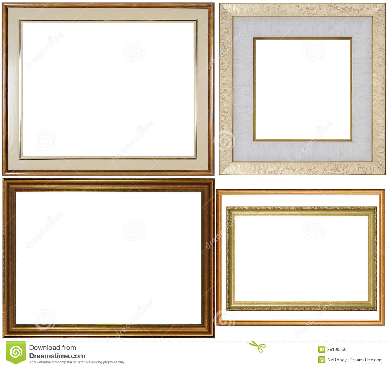 Five Frame stock photo. Image of wood, gilt, plated, picture - 28186556