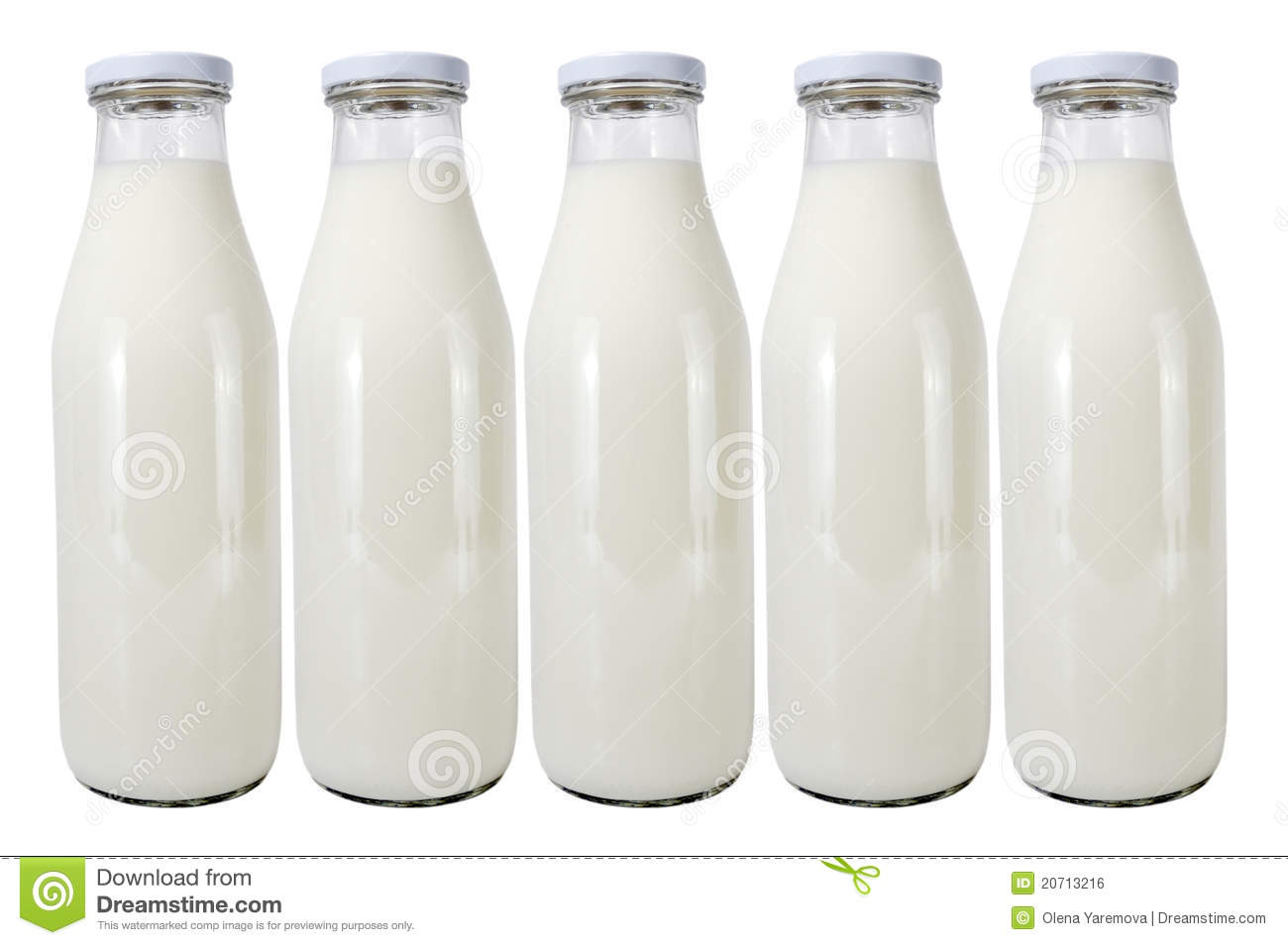 five glass bottles with milk stock photo image of thirst dietary 20713216