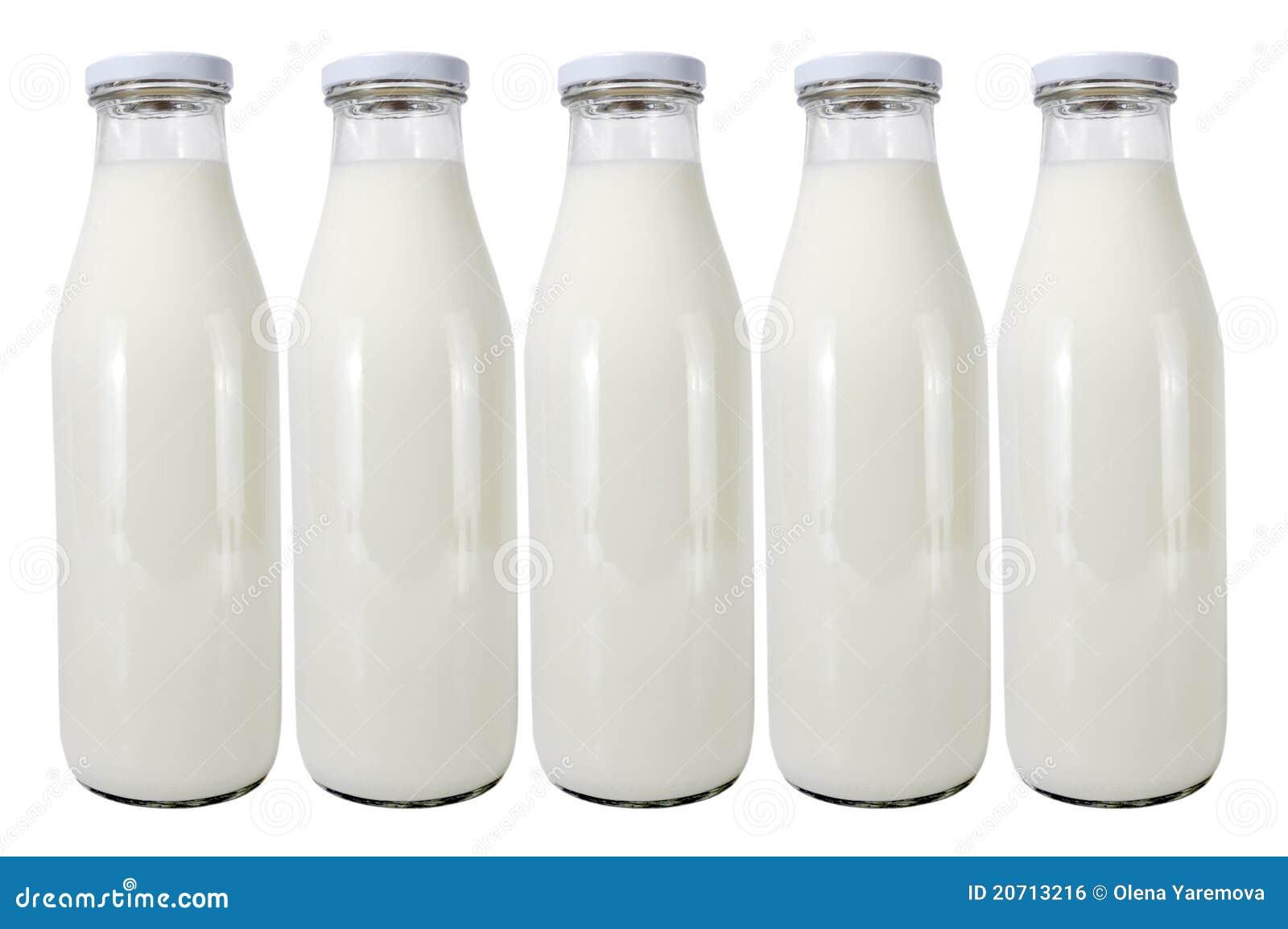 Chocolate Milk Glass Bottles