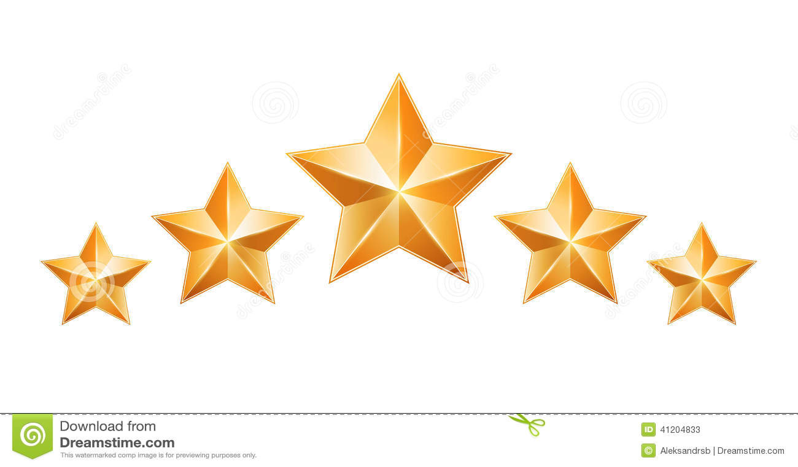 Five gold stars isolat...