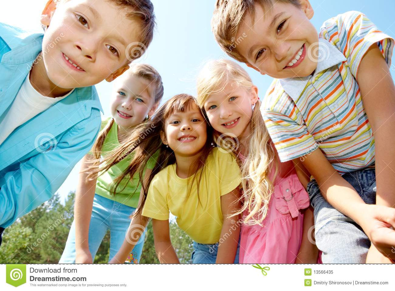 Five Happy Kids Royalty Free Stock Photo - Image: 13566435