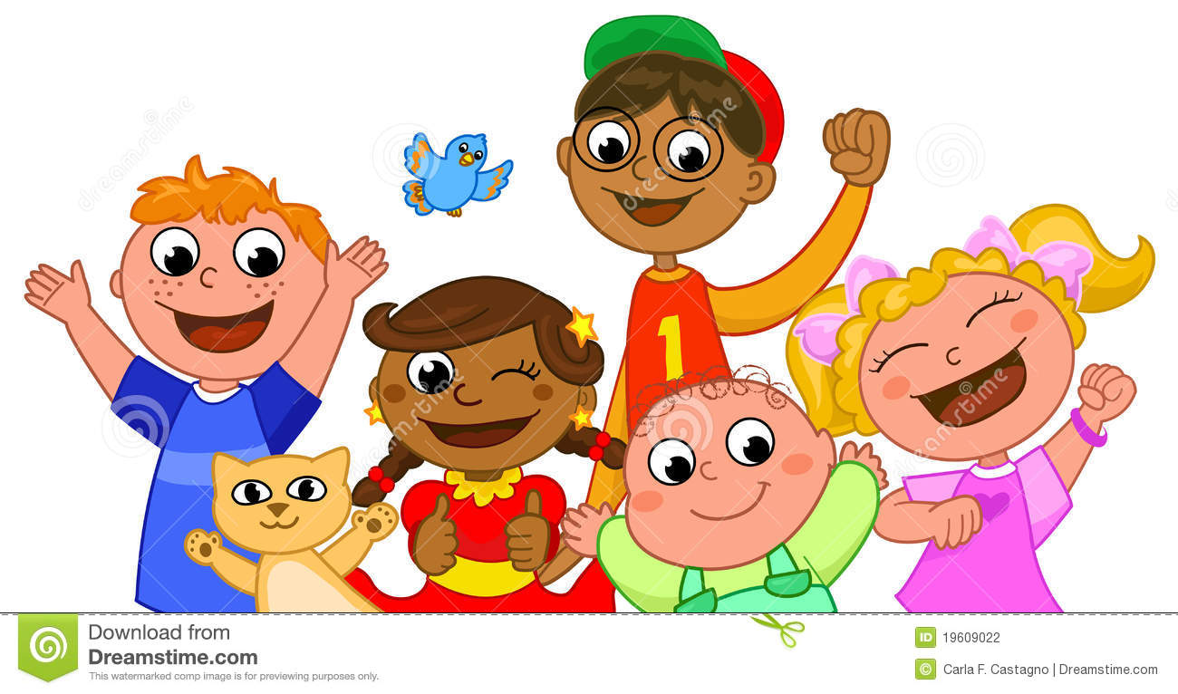Five Happy Kids Smiling Stock Photography Image 19609022