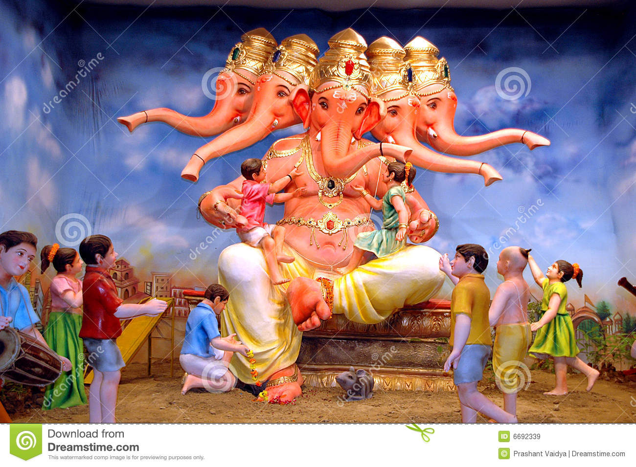 Five Headed Lord Ganesha Royalty Free Stock Images - Image ... - photo#37