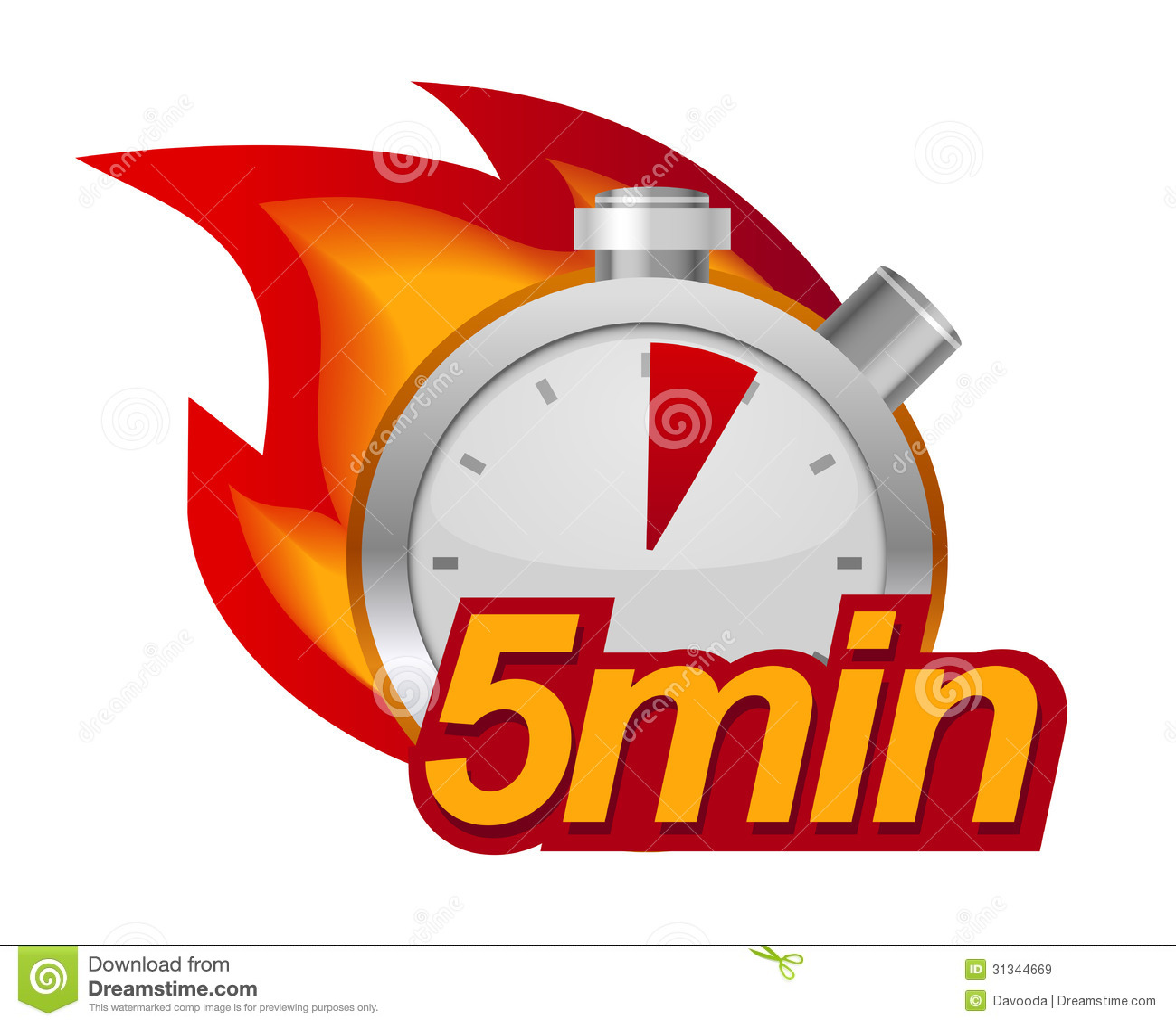set timer for 5 min