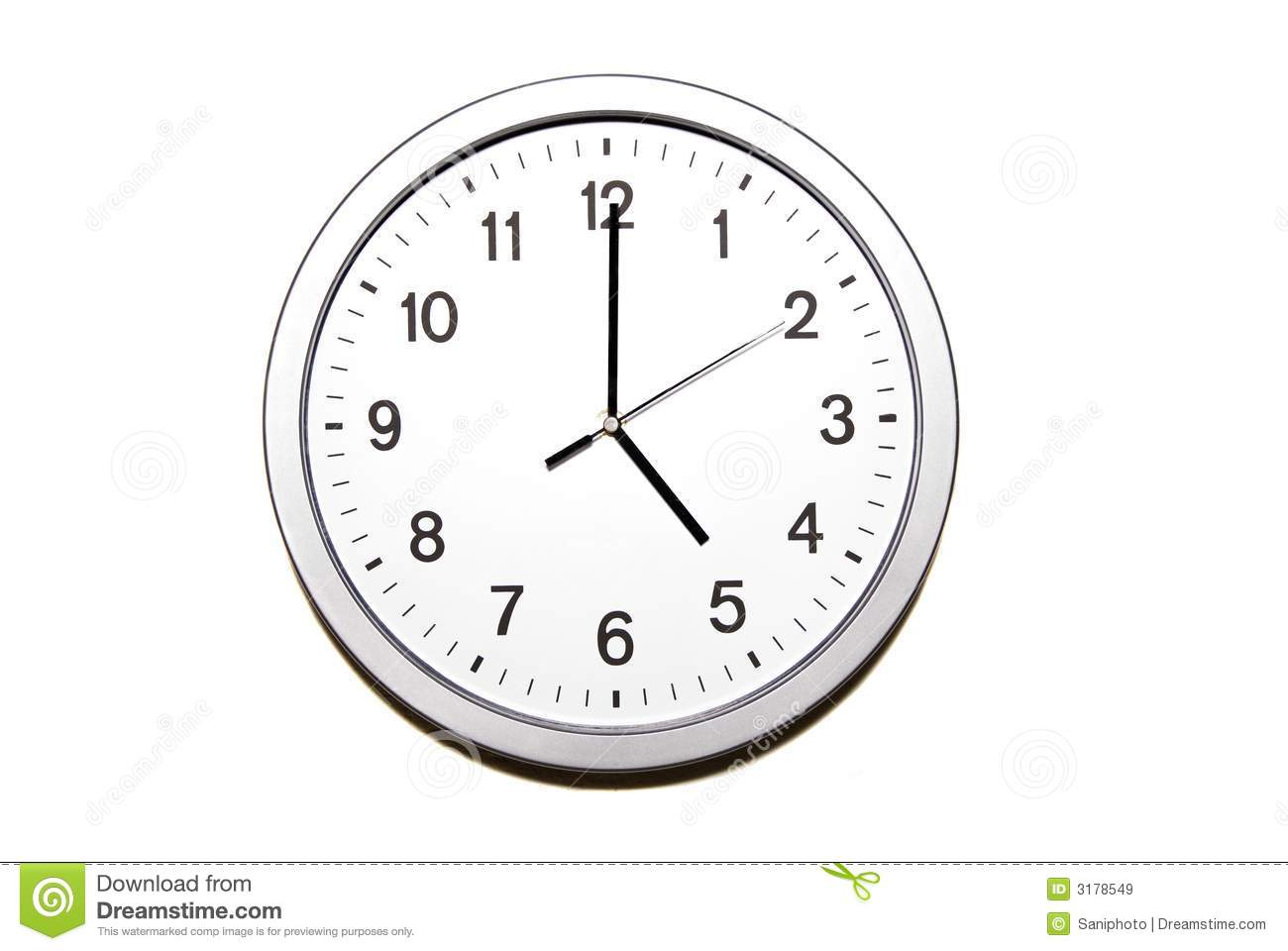 Five O Clock Stock Image Image Of Indication Concept